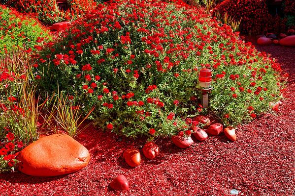 2009 - Jardins de couleur - Festival des Jardins de Chaumont - le rouge est mis