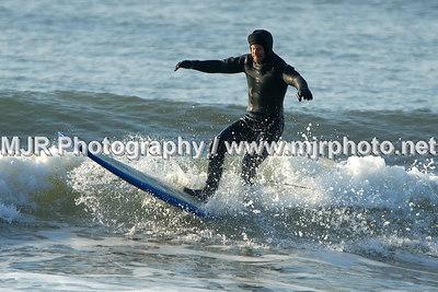 Surfing, Gilgo Beach, NY,  (3-11-07)