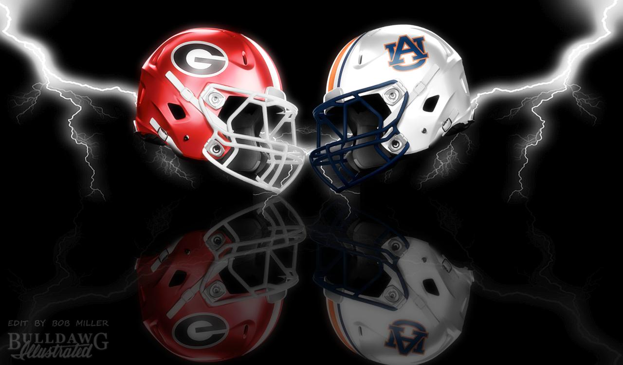 2019 Georgia vs. Auburn helmet edit with WONDER effect by Bob Miller