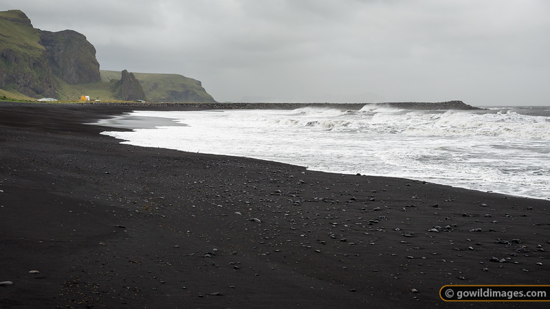 The black sand beach of Vík