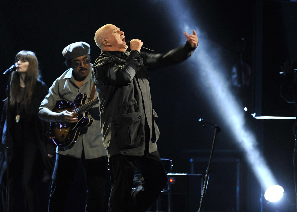 . Hall of Fame Inductee Peter Gabriel performs at the 2014 Rock and Roll Hall of Fame Induction Ceremony on Thursday, April, 10, 2014, in New York. (Photo by Charles Sykes/Invision/AP)