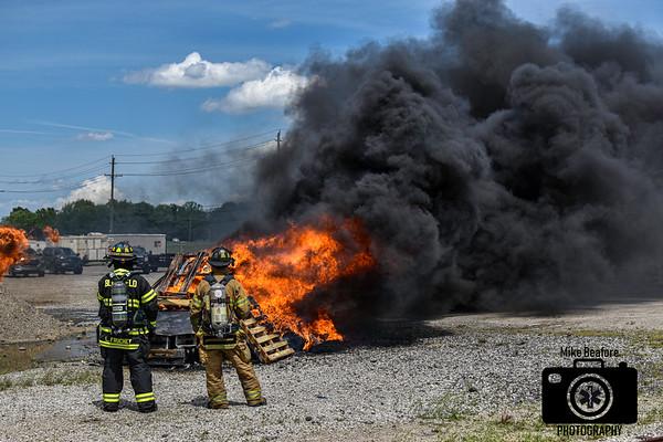 Northville City Explorers Car Fire