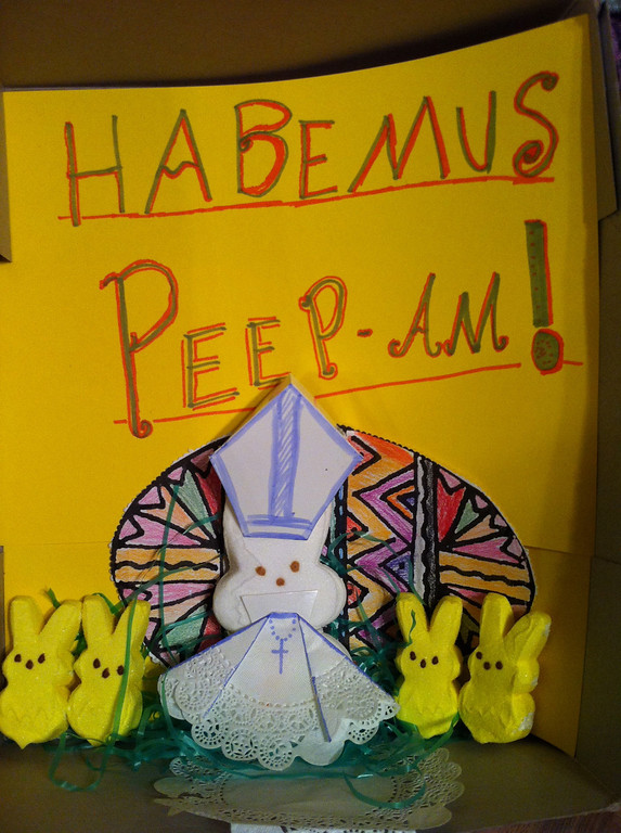 ". ""Habemus Peep-am,\"" by Amy Hodge, with an 11-year-old, Roseville"