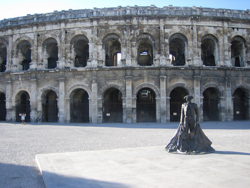 Bull fighting coliseum built in 1st century BC.