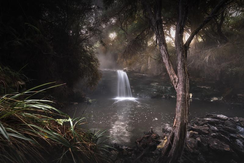 Waterfall Spout Bath Hot Springs