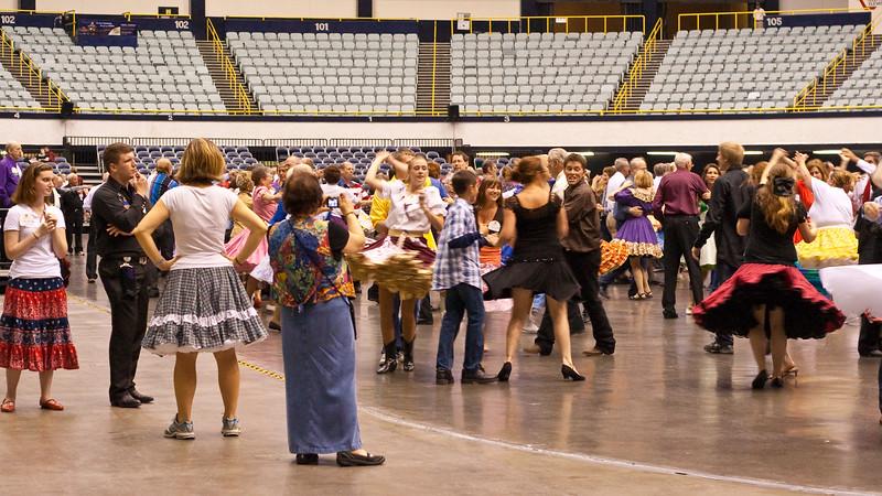 Square Dancing in Arena