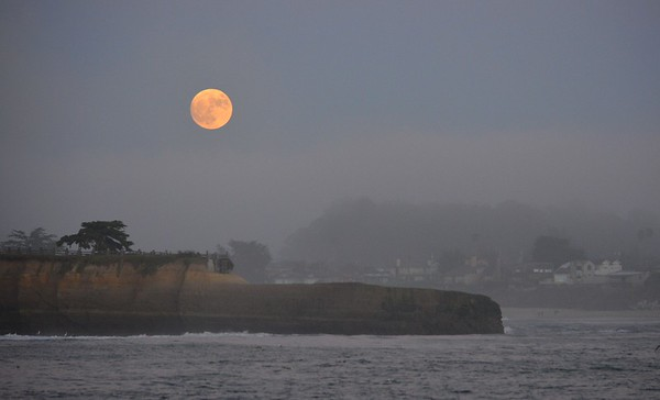 Sailing Santa Cruz's Shoreline on the Super Moon