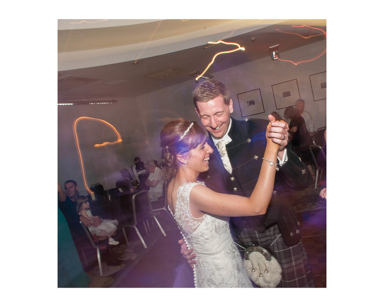 Wedding Photography of Laura & Paul, Apex International Hotel, Edinburgh, Scotland, Photograph is of the Bride & Groom dancing
