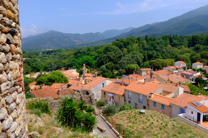 A week's holiday based at St Nazaire near Perpignan, in southern France.  Exploring Laroque-des-Albères on Thursday 16 July 2015.