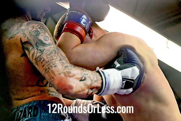 Bout 7 Semi Pro Boxing Mitch Reynolds, Red Trunks -vs- Tyler Farley, Black Trunks, Heavyweight