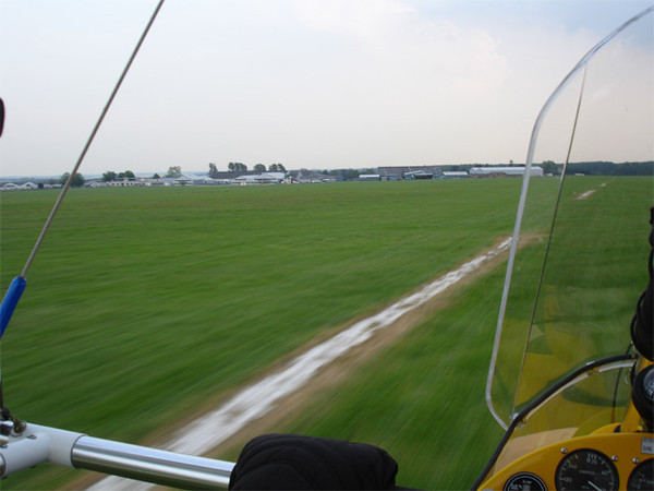 Landing at Sywell