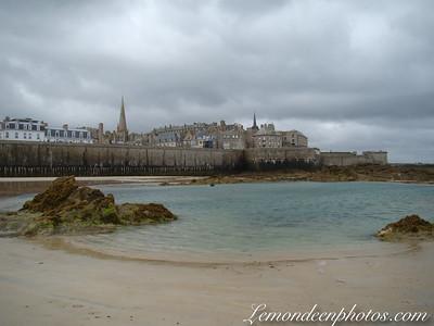 Saint-Malo : Avant/après les marées