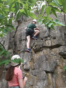 Day 3 Scouts Climbing