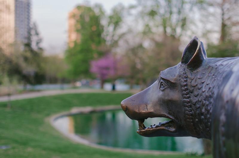 Capitolene Wolf statute, Eden Park, Cincinnati.