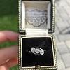 .80ctw Antique English 3-Stone Peruzzi Cut Diamond Ring 9