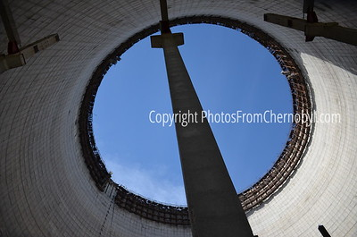 Inside the cooling tower at Reactor 5, Chernobyl Nuclear Power Plant
