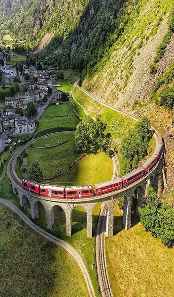 Twisted train tracks