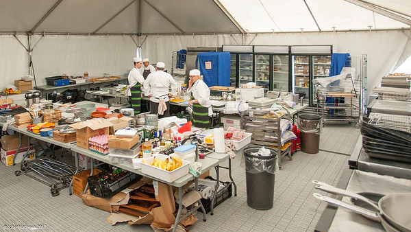 Ruth Pretty Catering in action behind the scenes on Practice Day 1 of the Asia-Pacific Amateur Championship tournament 2017 held at Royal Wellington Golf Club, in Heretaunga, Upper Hutt, New Zealand from 26 - 29 October 2017. Copyright John Mathews 2017.   www.megasportmedia.co.nz