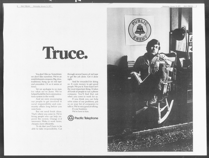 Daily Trojan, Vol. 62, No. 63, January 13, 1971