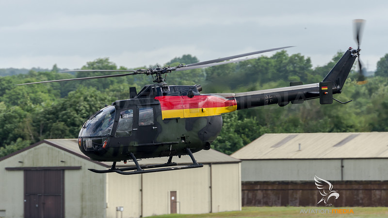 German Army / MBB Bo-105 / 87+16 / German Flag