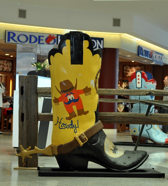 Large Cowboy Boot in Houston TX Airport