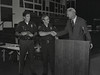 Mayor Hudnut at IPD Quarterly Awards, September 15, 1983, Img. 14, with Joseph McAtee