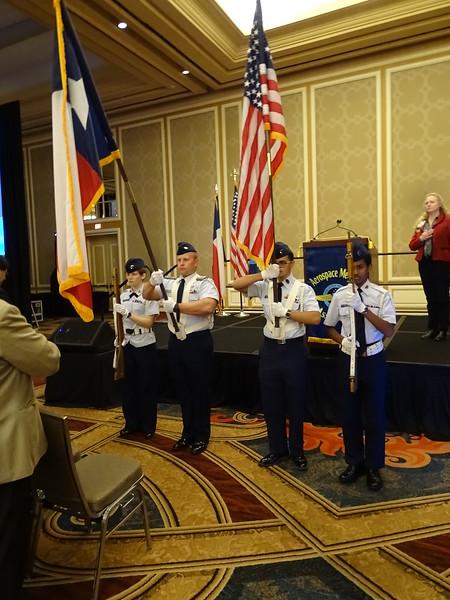 Civil Air Patrol Color Guard – Texoma Composite Squadron, Denison, TX, presents the colors during Opening Ceremonies