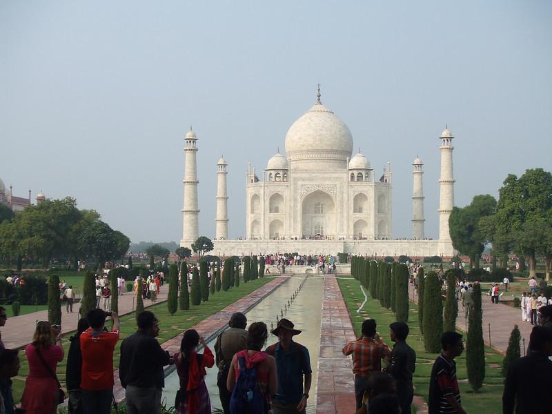 So many tourists, but the Taj Mahal is breathtaking