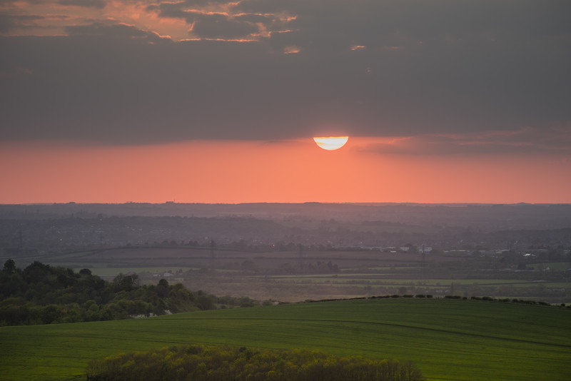 Sunset, Dunstable Downs, Bedfordhire