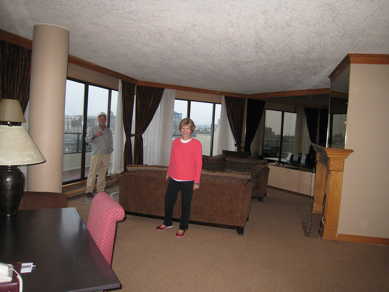 Here's Linda in the living room.