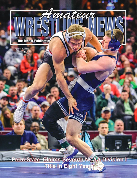 Amateur Wrestling News Cover, April, 2018