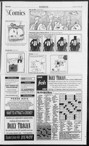 Daily Trojan, Vol. 154, No. 23, February 14, 2005