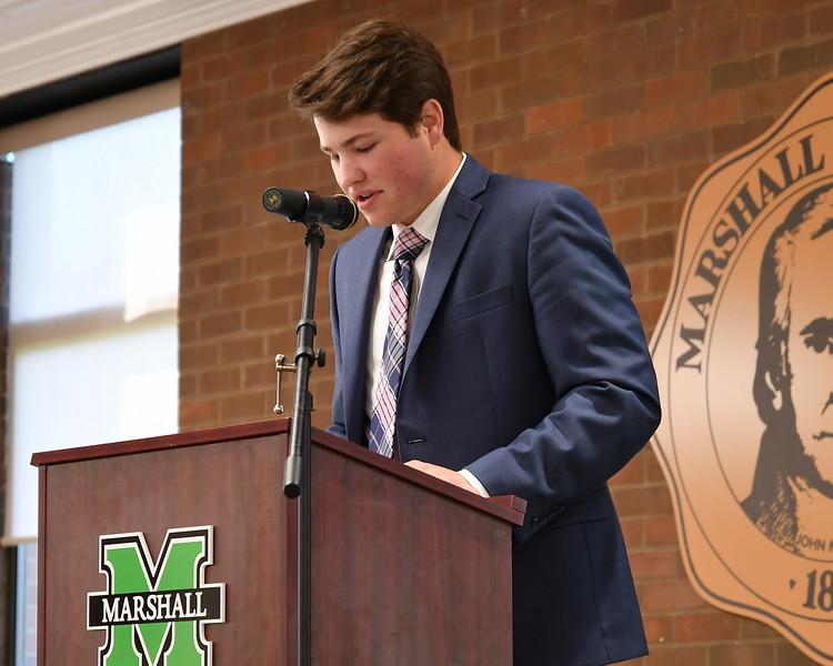 5.8.19 Marshall Student Athlete-stole ceremony