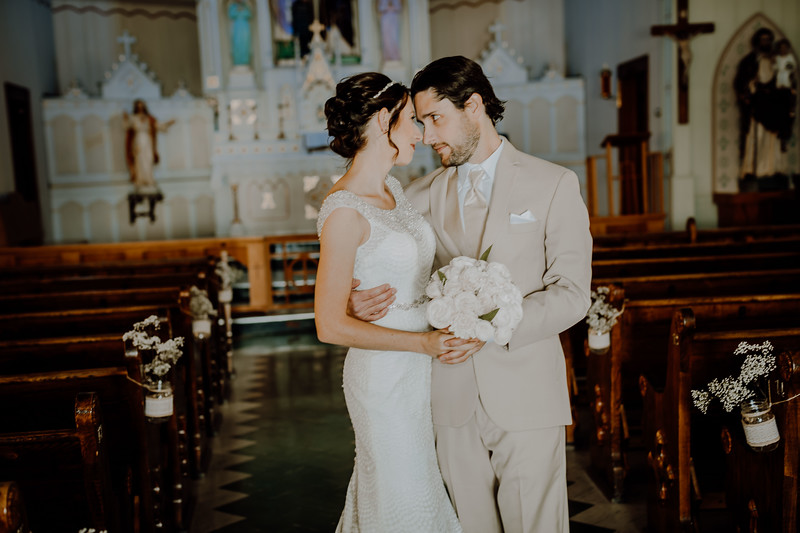 Mr & Mrs Inside Church