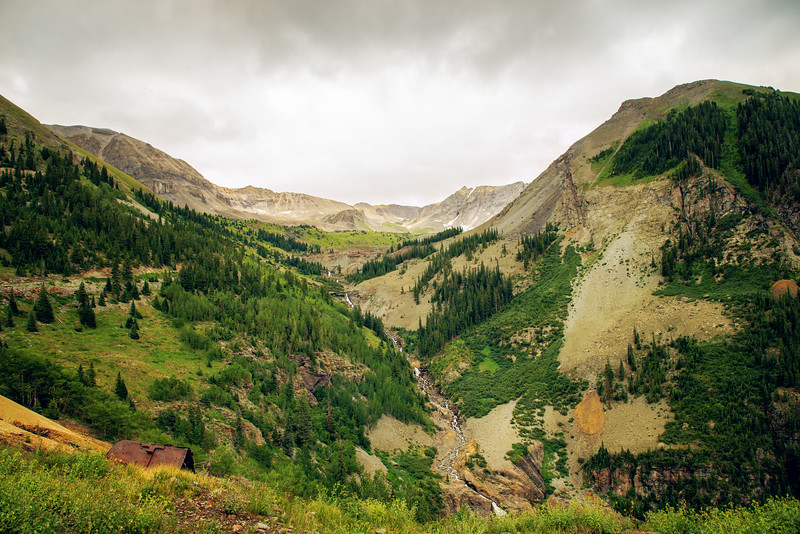 On the way to Tomboy Mines, above Telluride