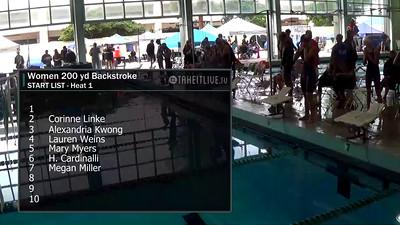 E31 Women's 200 yd Backstroke