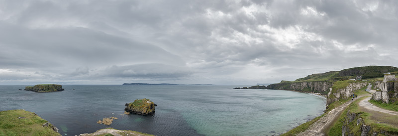Larrybane Bay - County Antrim, Northern Ireland, UK - August 16, 2017