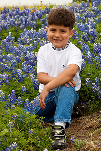Andrew in the Blue Bonnets