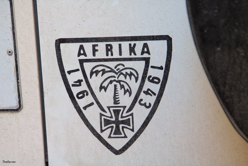"Valletta, Malta.   German ""Afrika Korps"" logo somewhat
