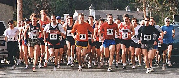 2000 Hatley Castle 8K - Matt Baker and Cliff Kennell go to the front