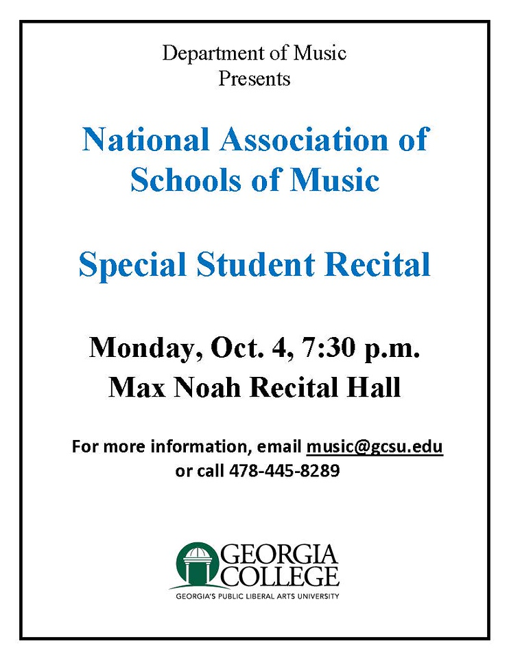 Please join us Monday either on FB or in Max Noah Recital Hall
