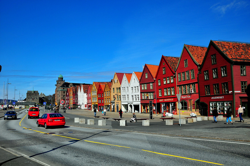 Gamle trehusene på Bryggen...