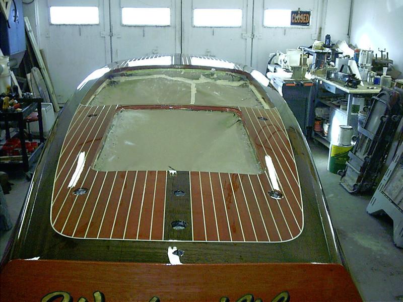 Rear deck varnished.