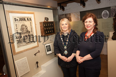 Chairperson of Newry, Mourne and Down DC Naomi Bailie is pictured with Museum Curator Noreen Cunningham. R1538006