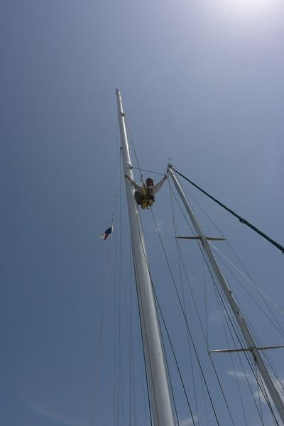 Carey at Staysail Fitting