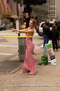 Hula Hooping on the Street