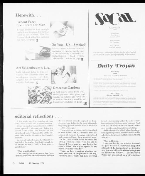 SoCal, Vol. 66, No. 77, February 25, 1974