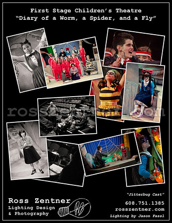 """First Stage Children's Theatre """"Diary of a Worm, Spider, and Fly - Jitterbug Cast"""
