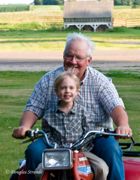 2012  Brad & Caden ride the scooter