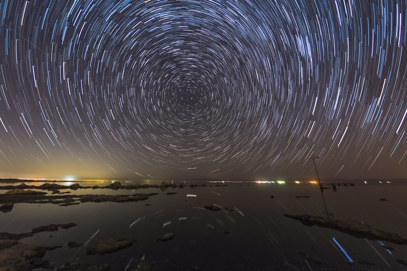 Some More Star Trails On the Southwestern Shore of the Salton Sea